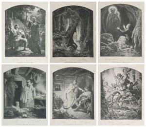 Artur GROTTGER (1837-1867), Kompletny zestaw grafik z cyklu: Lituania