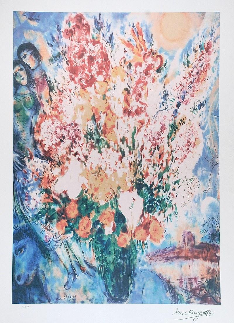 Marc CHAGALL (1887-1985) - według, Kwiaty w wazonie