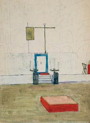 Jerzy NOWOSIELSKI (1923-2011), Projekt wnętrza cerkwi, 1951