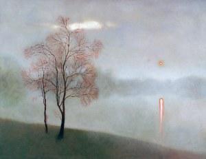 Dawid ZDOBYLAK (ur. 1993), Pejzaż z mgłą, 2017