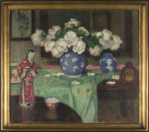 Alfons Karpiński, Białe róże z japońską figurką
