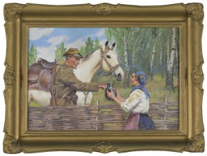 Jerzy Kossak, Ułan i dziewczyna