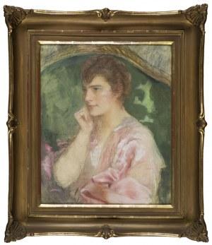 Teodor Axentowicz, Portret kobiety w różowej sukni