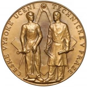Czechosłowacja, Medal, Politechnika Czeska w Pradze 1957 (Fischer)