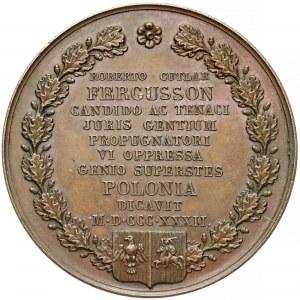 Medal, Robert Cutlar Fergusson - obrońca sprawy polskiej 1832