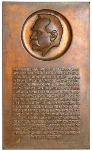 Plakieta MW (102x60) J. Piłsudski 1931 r.
