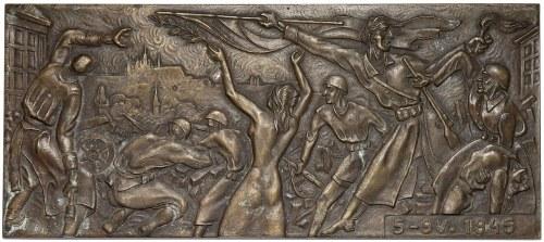 Czechosłowacja, Plakieta, Powstanie praskie 1945 (Bilek)