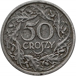 Próba ŻELAZO 50 groszy 1938 - rzadkość