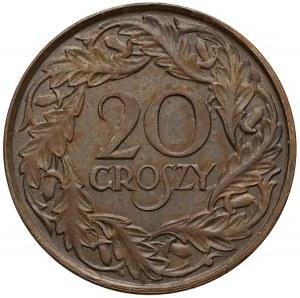 Próba MOSIĄDZ 20 groszy 1923 - bez PRÓBA - b.rzadkie