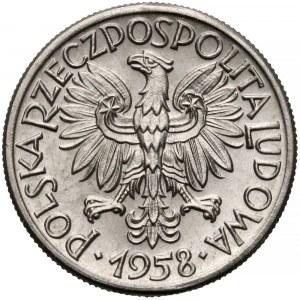 Próba NIKIEL 50 groszy 1958 wstęga