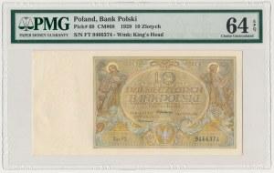 10 złotych 1929 - FT - PMG 64 EPQ