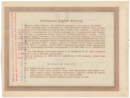 Fabryka Ołówków St. Majewski Tow. Akc., 600 zł 1931