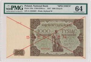 SPECIMEN 1.000 złotych 1947 - Ser.A - PMG 64