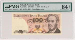 100 złotych 1975 - AA - PMG 64 EPQ