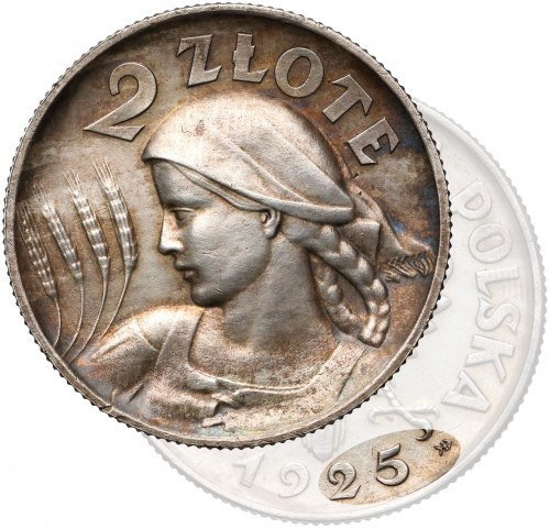 Próba SREBRO Kobieta i kłosy 2 złote 1925 WARSZAWA - rzadkość