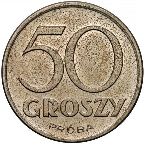 Próba MIEDZIONIKIEL 50 groszy 1938 bez wieńca - RZADKOŚĆ