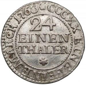 August III Sas, 1/24 talara 1763 FWóW, Drezno