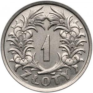 Próba NIKIEL 1 złoty 1929 - bez PRÓBA - b. rzadka