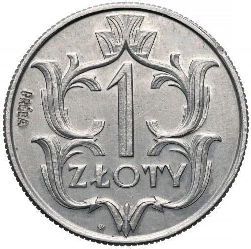 Próba ALUMINIUM 1 złoty 1929 - Kotarbińskiego - b. rzadka