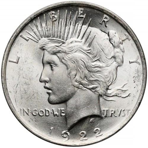 USA, Dolar 1922, Filadelfia - Peace Dollar