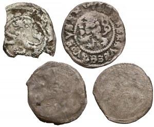 Czechy, głównie Władysław II Jagiellończyk (1490-1516), zestaw (4szt)
