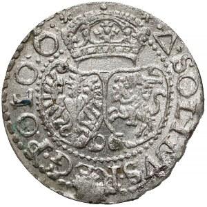 Zygmunt III Waza, Szeląg Malbork 1596 - bardzo ładny