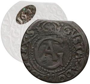Gustaw II Adolf, Szeląg Elbląg 1627 - RZADKOŚĆ