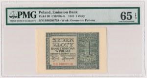 1 złoty 1941 - BB - PMG 65 EPQ