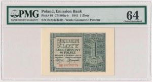 1 złoty 1941 - BD - PMG 64