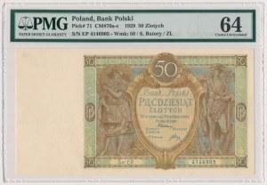 50 złotych 1929 - Ser.EP - PMG 64
