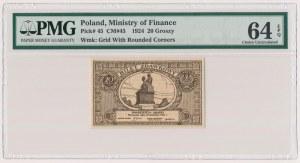 20 groszy 1924 - PMG 64 EPQ