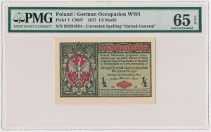 Generał 1/2 mkp 1916 - PMG 65 EPQ