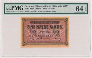 Kowno 1/2 marki 1918 - C - PMG 64 EPQ