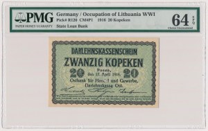 Poznań 20 kopiejek 1916 - PMG 64 EPQ