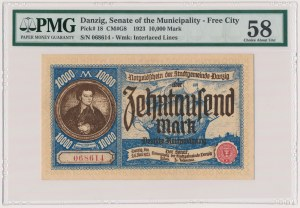 Gdańsk 10.000 marek 1923 - PMG 58