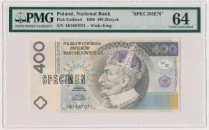PWPW, 400 złotych 1996 - SPECIMEN - PMG 64