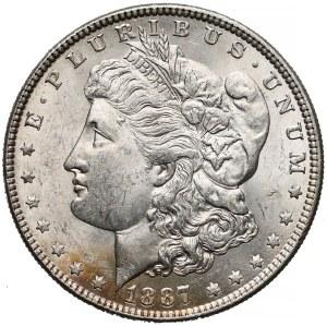 USA, Dolar 1887, Filadelfia - Morgan Dollar