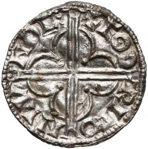 Anglia, Knut (1016-1035), Denar typu quatrefoil