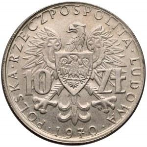 Próba MIEDZIONIKIEL 10 złotych 1970 Byliśmy... - bez napisu PRÓBA - nieopisana