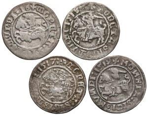 Zygmunt I Stary, Półgrosze Wilno 1516-1519 - zestaw (4szt)