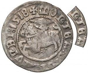 Zygmunt I Stary, Półgrosz Wilno 1518 - błąd MONTEA