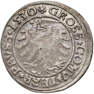 Zygmunt I Stary, Grosz Toruń 1530 - miecz w prawo