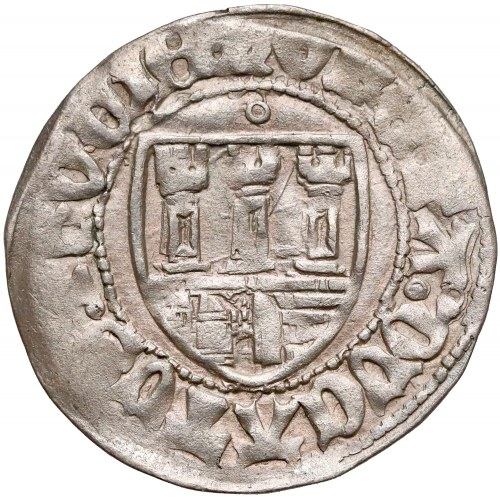 Kazimierz IV Jagiellończyk, Szeląg Toruń - z herbem - RZADKOŚĆ