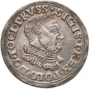 Zygmunt I Stary, Trojak Toruń 1534 - ozdobna zbroja - rzadki