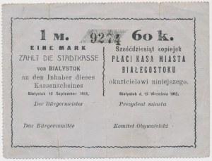 Białystok, 1 Mk = 60 kop 1915 - blankiet