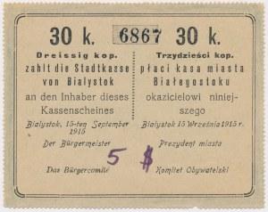 Białystok, 30 kopiejek 1915 - blankiet
