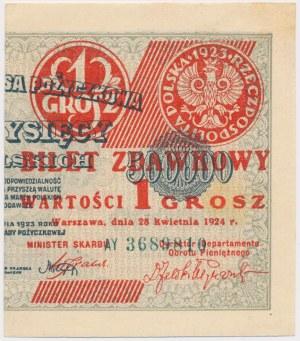 1 grosz 1924 - AY - prawa połowa