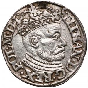 Stefan Batory, Trojak Olkusz 1581 - duża głowa