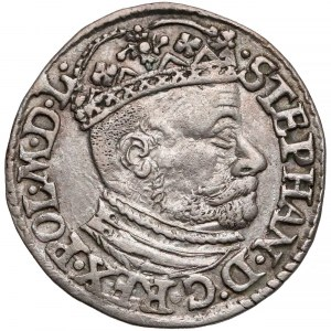 Stefan Batory, Trojak Olkusz 1582 - bez ID - duża głowa