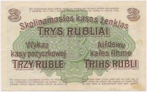 Poznań 3 ruble 1916 ''...wystara'' - C